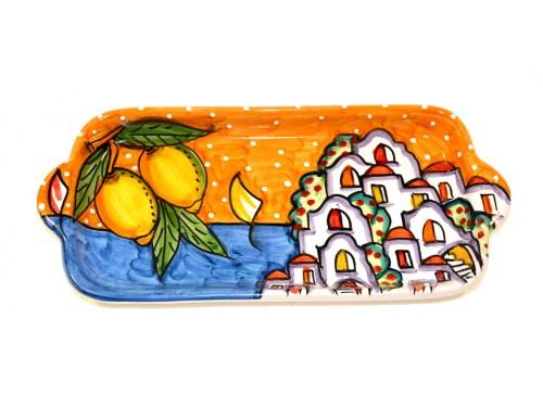 Piatto Rettangolare Casette arancione