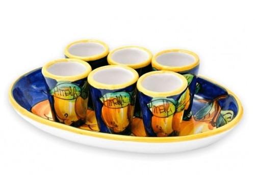 Limoncello Set Lemon Blue 6 people