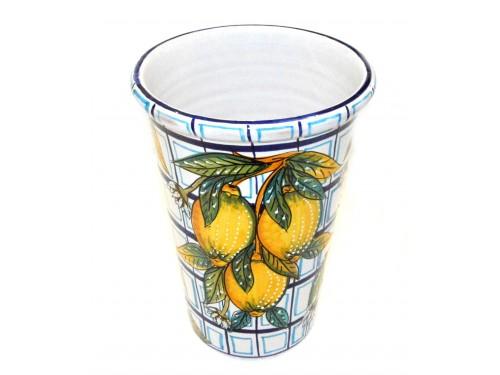 Vaso - Porta ghiaccio Limoni con quadrati blu