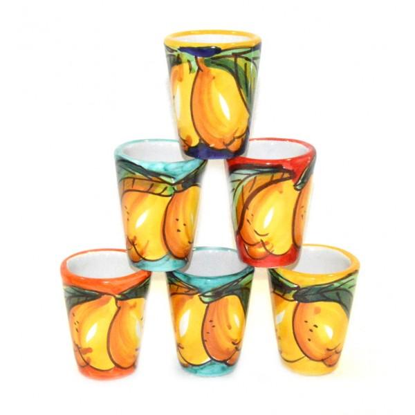 Bicchierini Limoncello Limoni 6 persone