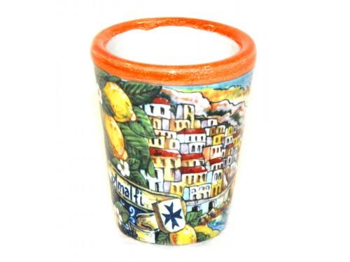 Bicchierino Limoncello Amalfi arancione