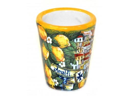 Bicchierino Limoncello Amalfi giallo