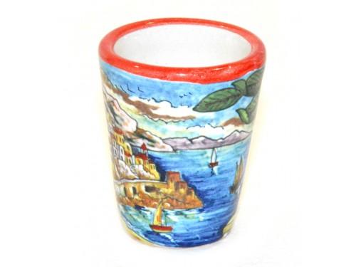 Bicchierino Limoncello Amalfi rosso