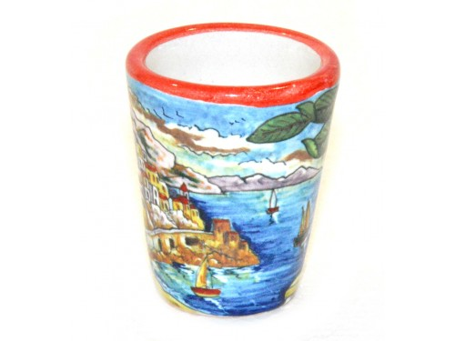 Shot Glass Amalfi red
