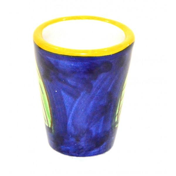 Shot Glass Lemon Blue