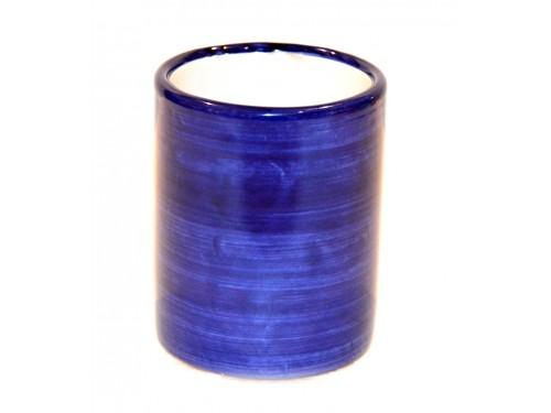 Bicchiere Ceramica Monocolore blu