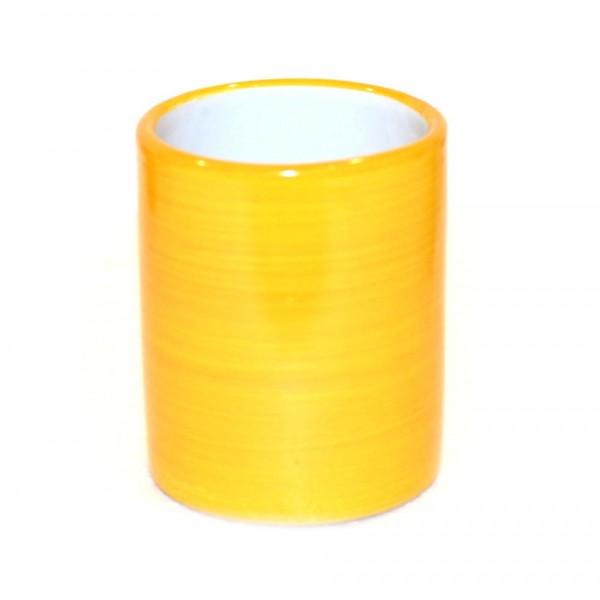 Bicchiere Ceramica Monocolore giallo
