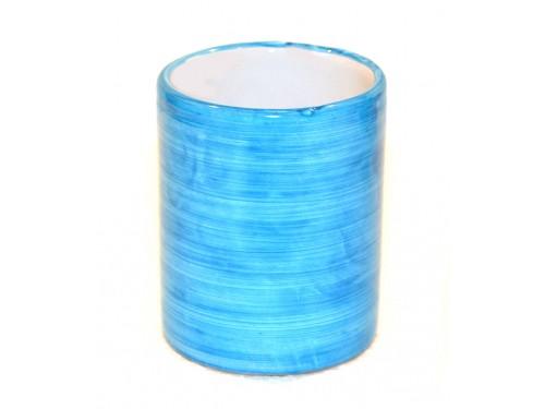 Bicchiere Ceramica Monocolore celeste