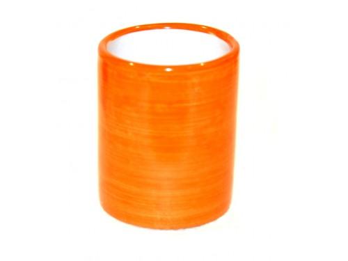 Bicchiere Ceramica Monocolore arancione