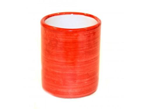 Bicchiere Ceramica Monocolore rosso