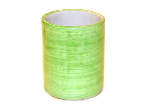 Bicchiere Ceramica Monocolore verde