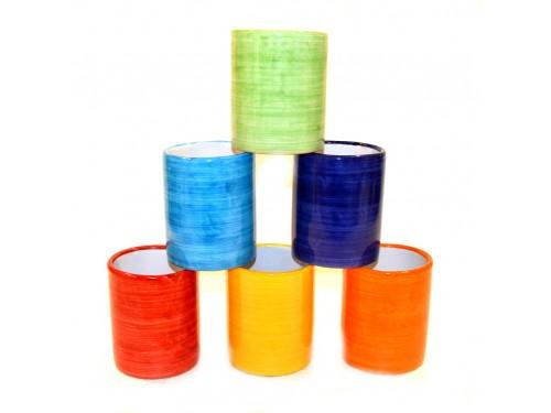 Ceramic Glasses Monocolor (6 pieces)