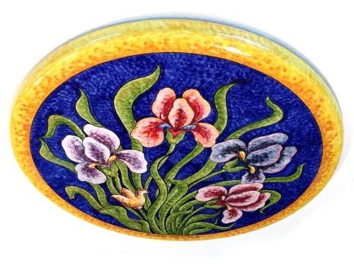 Tavolo caffè Iris fondo blu (da 40 a 60 cm)