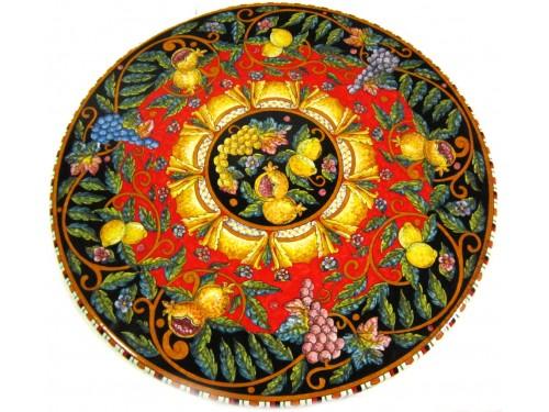 Tavolo da Pranzo Frutta Mista Rosso e Nero (da 70 a 120 cm)