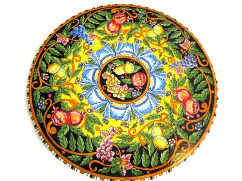 Tavolo da Pranzo Frutta Mista Giallo e Nero (da 70 a 120 cm)