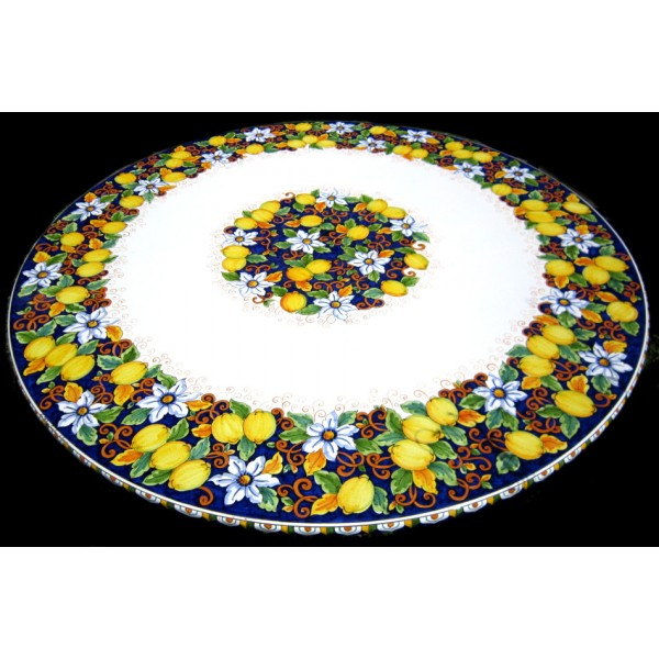 Dining Table Lemons & Flowers (from 27,55 to 47,20 inches)