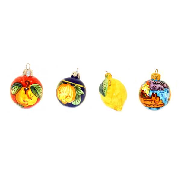 Palline di Natale (set Amalfi 4 pezzi)