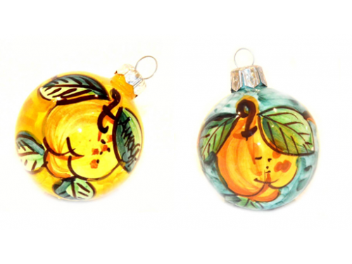 Christmas Ornaments Lemon yellow & green (2 pieces)