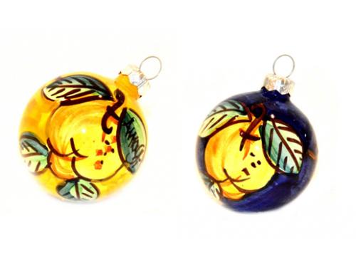 Christmas Ornaments Lemon yellow & blue (2 pieces)