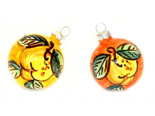 Christmas Ornaments Lemon yellow & orange (2 pieces)