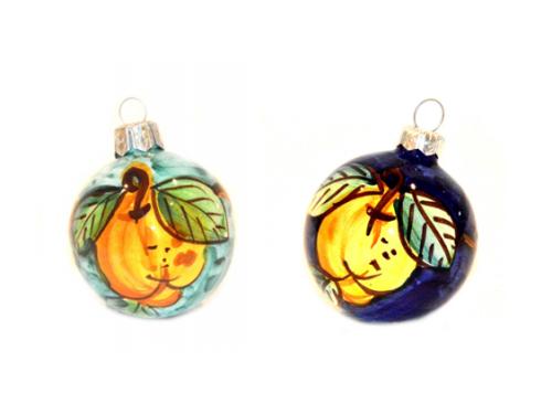 Christmas Ornaments Lemon green & blue (2 pieces)