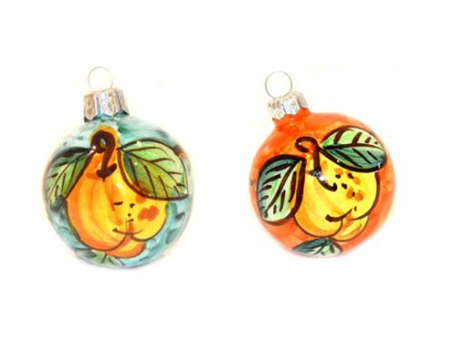 Palline di Natale Limoni verde e arancione (2 articoli)