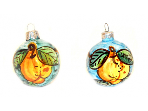 Christmas Ornaments Lemon green & light blue (2 pieces)