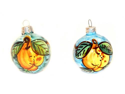 Palline di Natale Limoni verde e celeste (2 articoli)