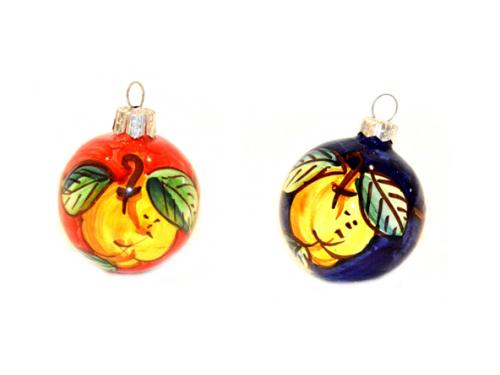 Christmas Ornaments Lemon red & blue (2 pieces)