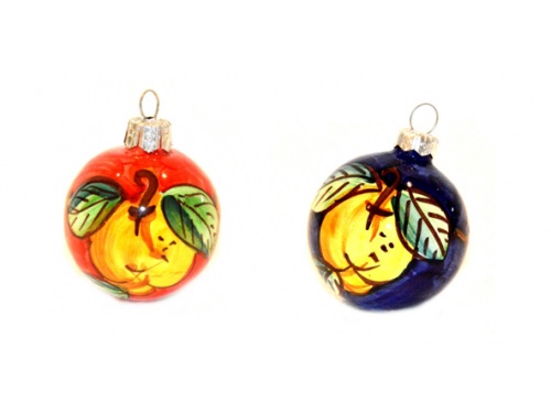 Palline di Natale Limoni rosso e blu (2 articoli)