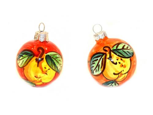 Palline di Natale Limoni rosso e arancione (2 articoli)