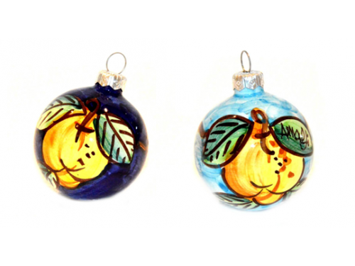 Christmas Ornaments Lemon blue & light blue (2 pieces)