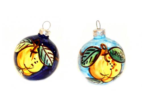 Palline di Natale Limoni celeste e blu (2 articoli)