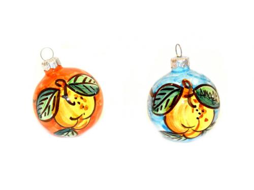 Christmas Ornaments Lemon orange & light blue (2 pieces)