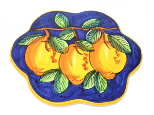 Trivet (flower shape) Lemon Blue