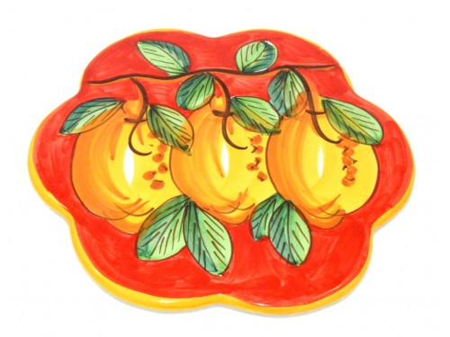 Trivet (flower shape) Lemon Red