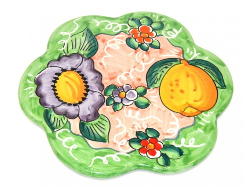 Trivet (flower shape) Lemon Flower Light Green