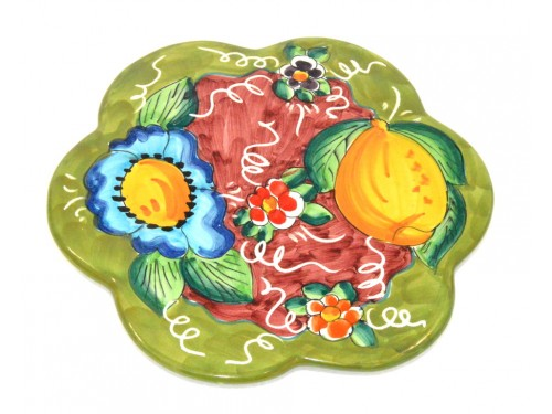 Trivet (flower shape) Lemon Flower Green