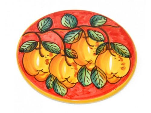 Sottopentola Limoni rosso (18 cm)