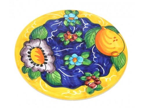 Sottopentola Limone Fiori Giallo (18 cm)