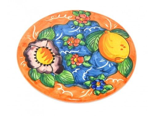 Sottopentola Limone Fiori arancione (18 cm)