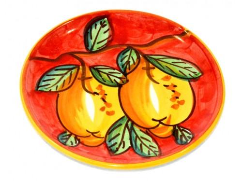 Piatto pane e per il burro limoni rosso (16 cm)