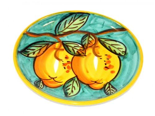 Piatto pane e per il burro limoni verde (16 cm)