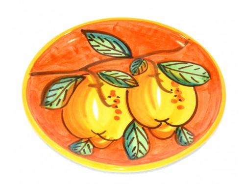 Piatto pane e per il burro limoni arancione (16 cm)