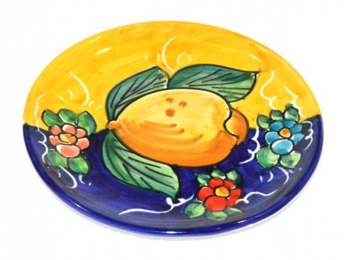 Bread & Butter Plate Lemon Yellow Blue (6,30 inches)