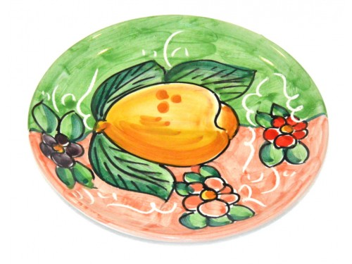 Bread & Butter Plate Lemon Green Pink (6,30 inches)