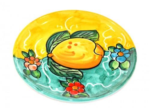 Piatto pane e per il burro limoni giallo - verde (16 cm)
