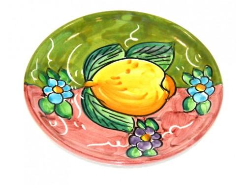Piatto pane e per il burro limoni verde - viola (16 cm)