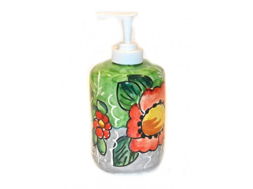 Soap Dispenser Flower Lemon Green