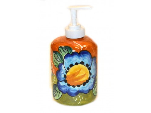 Soap Dispenser Flower Lemon Orange